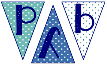 Happy Birthday Pennant- Teal & Navy
