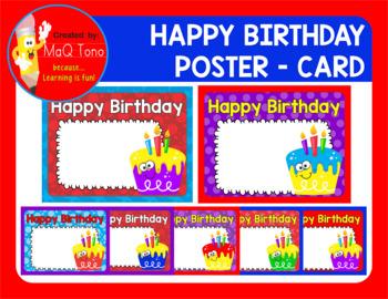 Happy Birthday Poster Card