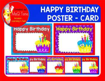 Happy Birthday Poster Card