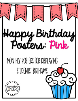 Happy Birthday Posters: Pink