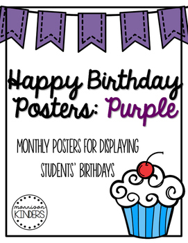 Happy Birthday Posters: Purple