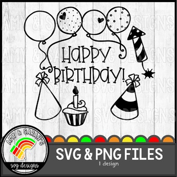 Happy Birthday SVG Design