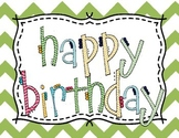 Happy Birthday Sign FREEBIE