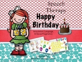 Speech Therapy Happy Birthday Language and Articulation