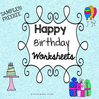 Happy Birthday Speech and Language