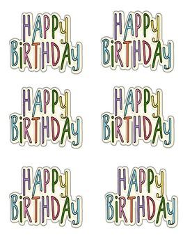 Happy Birthday Sticks not Balloons
