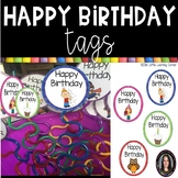 Happy Birthday Tags ~ Labels