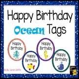 Happy Birthday Tags ~ Ocean