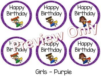 Happy Birthday Tags ~ Superheroes