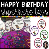 Happy Birthday Tags ~ Superheroes