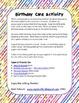 Happy Birthday To You!  A Birthday Writing Activity