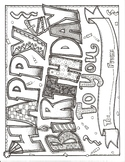Happy Birthday To You Coloring Sheet