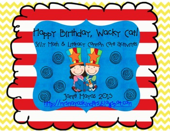 Happy Birthday, Wacky Cat! {Common Core Math & Literacy Centers for March}