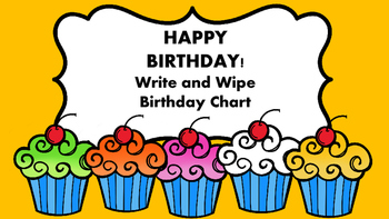 Happy Birthday Chart