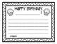 Happy Birthday Writing Activity