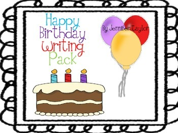 Happy Birthday Writing Pack