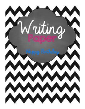 Happy Birthday Writing Paper