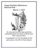 Happy Birthday Yellowstone National Park