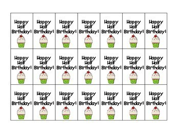 Happy Birthday and Half Birthday! Brag Tags