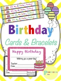 Birthday Certificates, Books, and Brag Bracelets