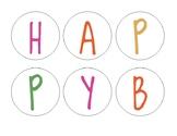 Happy Birthday board set