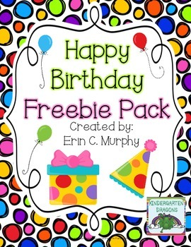 Happy Birthday to My Blog FREEBIE