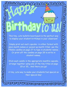 Happy Birthday to Us Mini Bulletin Board Set