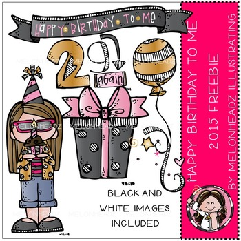 Melonheadz: Happy Birthday to me clip art - 2015 - Combo Pack