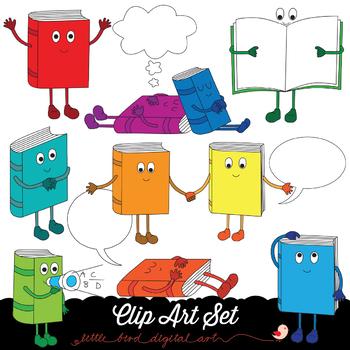 Happy Books 1 - Clip Art Set - PNG files