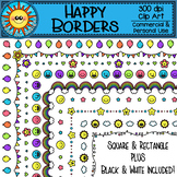 Happy Borders Clip Art