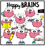 Happy Brains (Growth Mindset Clip Art for Personal & Commercial Use)