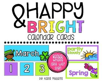 Happy & Bright Calendar Cards