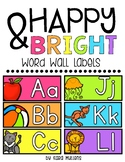Happy & Bright Word Wall Picture Headers
