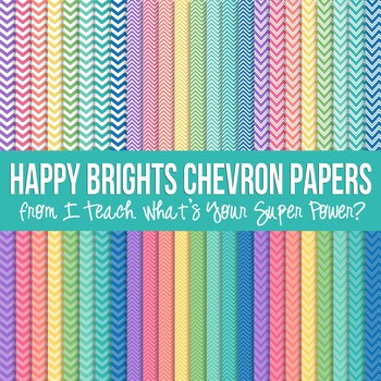 Happy Brights Chevron Paper Pack