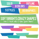 Happy Brights Crazy Shapes Trapezoids Set