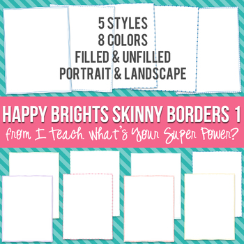 Happy Brights Rectangle Skinny Borders
