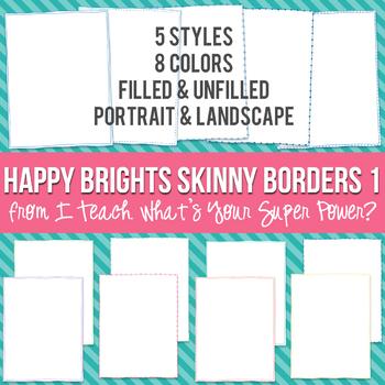 Happy Brights Rectangle Skinny Borders