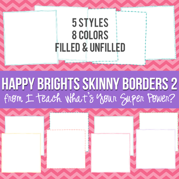 Happy Brights Square Skinny Borders