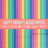 Happy Brights Wood Paper Pack