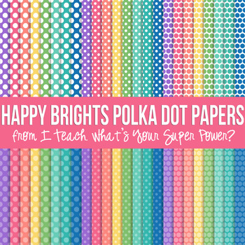 Happy Brights on White Digital Paper Set
