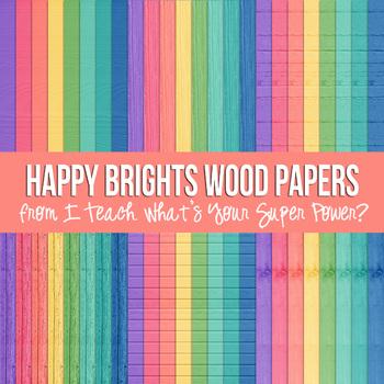 Happy Brights on White Digital Paper Set