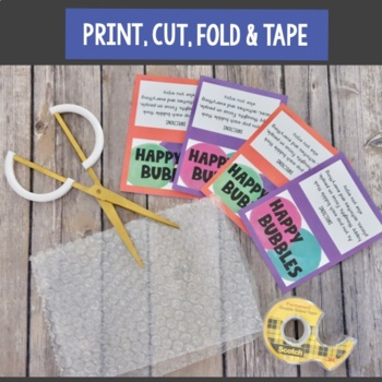 Happy Bubbles-  Happiness and Optimism Mindset Activity