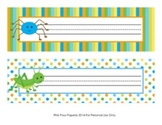 Happy Bugs Classroom Decor Desk Name Plates
