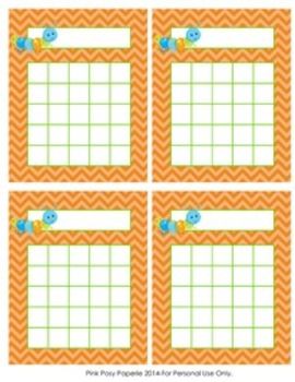 Happy Bugs Incentive Reward Charts - 4 Designs