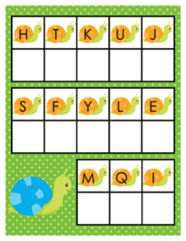 Happy Bugs Snail Alphabet Matching Activity