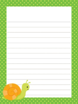 Happy Bugs Writing Paper - 3 Styles - 4 Designs