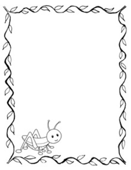 Happy Bugs Writing Paper - Black and White - 3 Styles