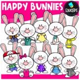 Happy Bunnies Clip Art Bundle {Educlips Clipart}