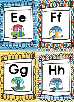 Happy Camper Alphabet Signs and Word Wall