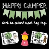 Happy Camper Back to School Treat Bag Tags